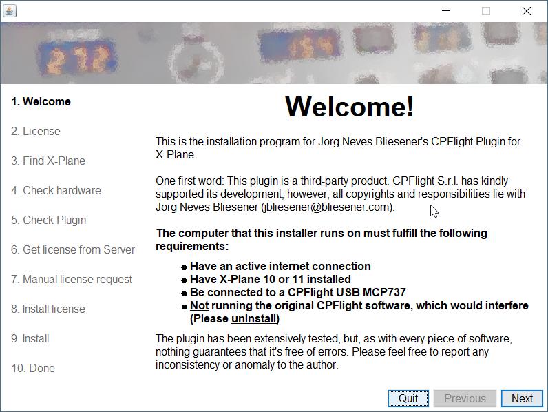 CPFlight plugin installation instructions